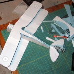 A quick test fit of the parts cut out of foam