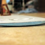 The wing - upside down here - is sanded into an airfoil shape.