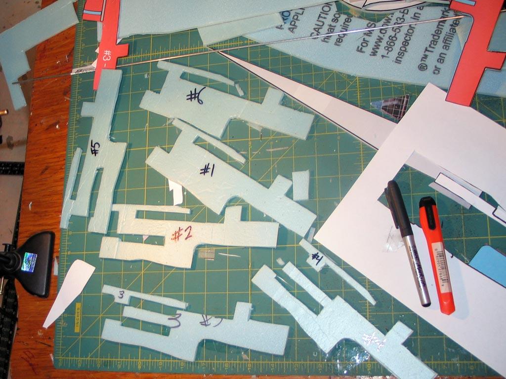 The basic parts cut into 3 distinct shapes