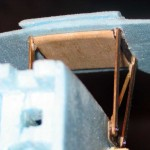 A thin block of balsa between the cabanes to add strength and stability