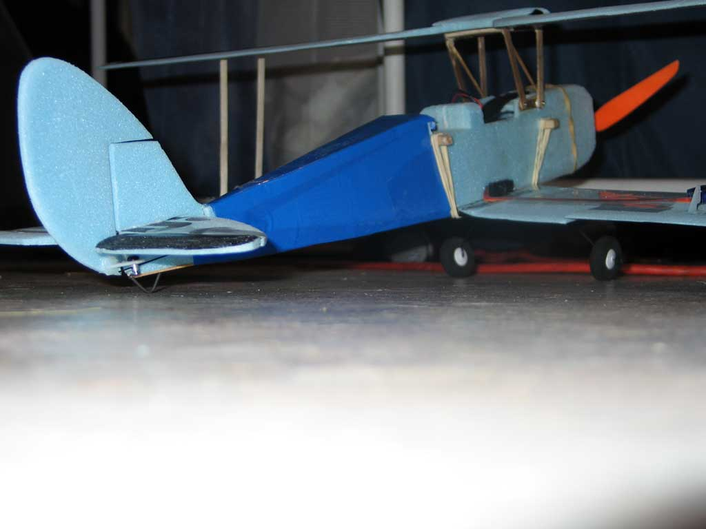 Sitting on its landing gear