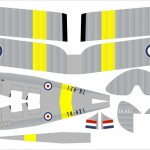 Plans for a fold-and-tape paper Tiger Moth