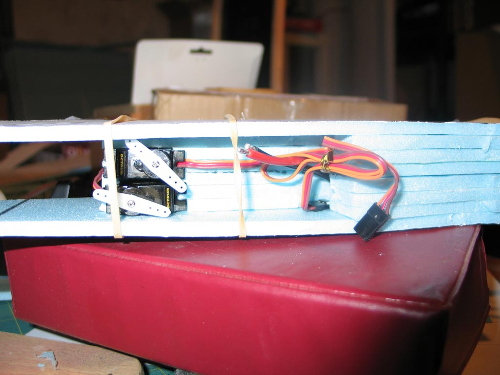 Checking the fit and position of the servos