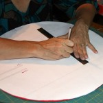 Cutting slots in the wing