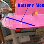 Battery mount position