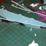 Folded fuselage
