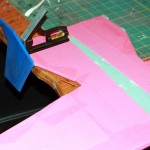 Pink plane / blue tail