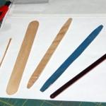Wooden interplane struts