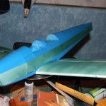 Painted fuse on wing