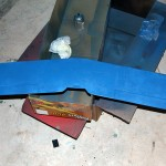 Painting the underside of the wing
