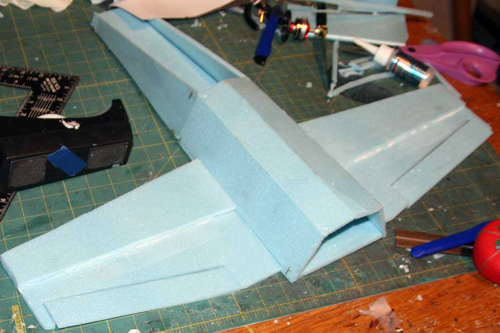 Cutting out the ailerons