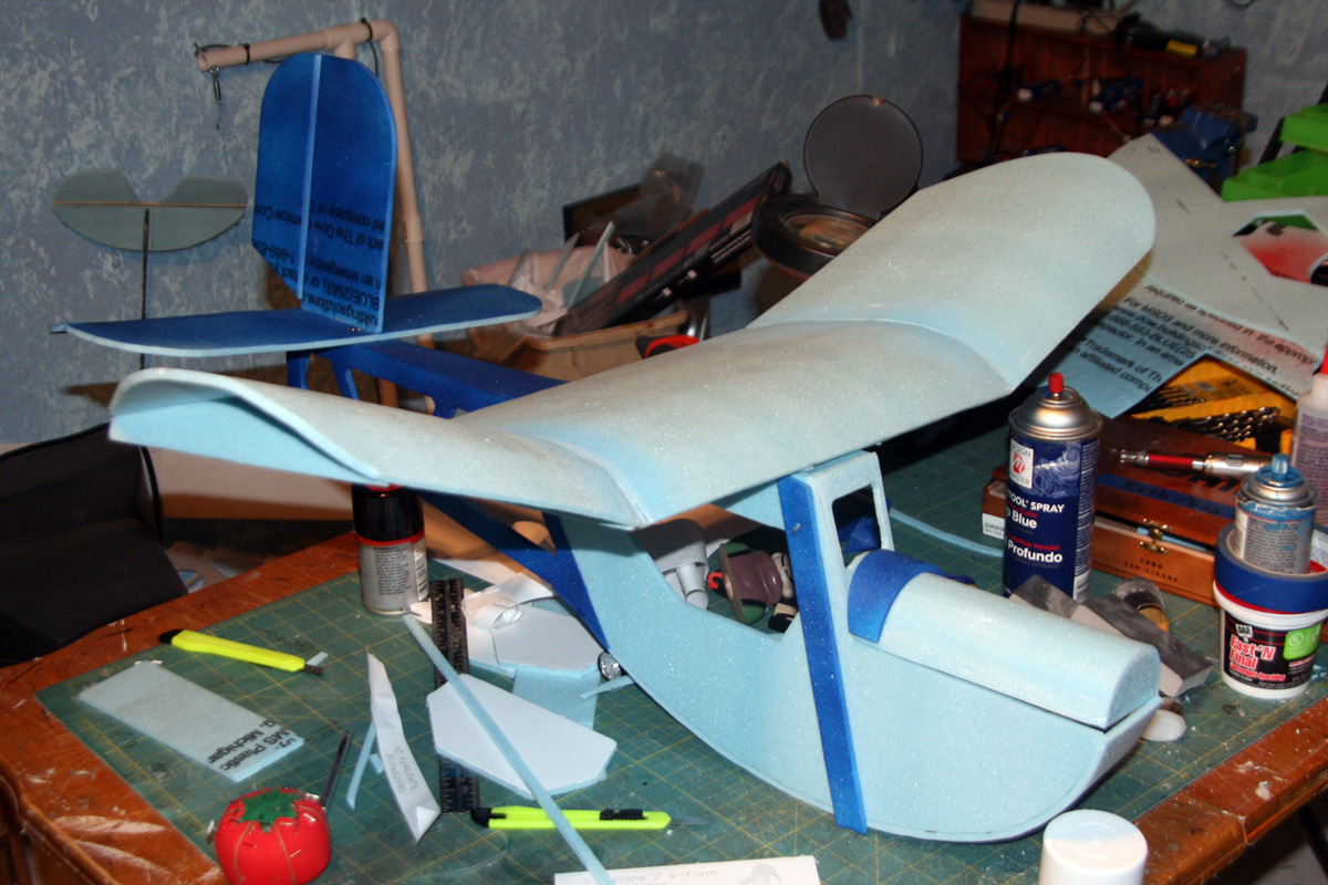 Tail in place and some 2-tone paint