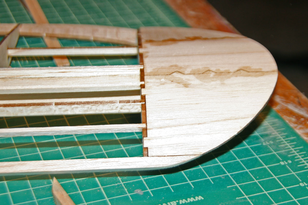 Leading edge cut and sanded to match wingtips.